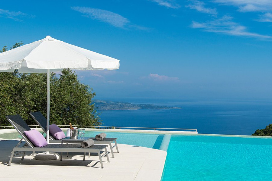 pool furniture corfu
